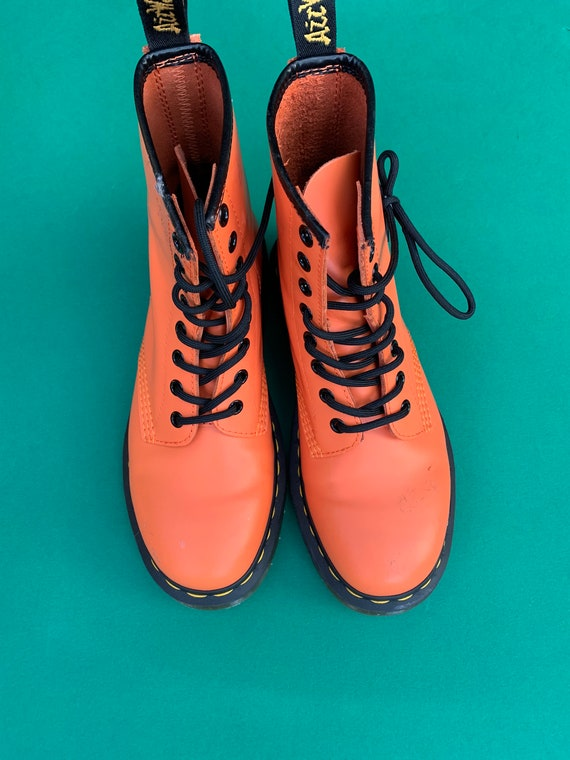 doc martin boots orange