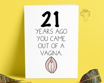 Funny Adult Birthday Card Happy Birthday Cunt For Him Or Her Etsy