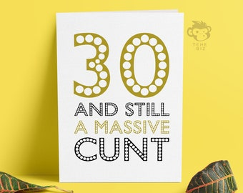 Funny Adult 30th Birthday Card