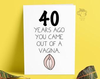 Funny Adult 40th Birthday Card