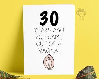 Rude Adult 30th Birthday Card