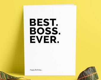 Funny Boss Birthday Cards