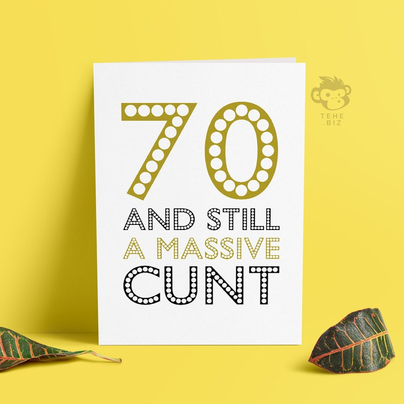 Funny Adult 70th Birthday Card