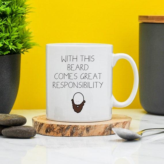 Tremendous Beard Responsibility Mug Gift For Bearded Men Beard Fan Etsy Natural Hairstyles Runnerswayorg