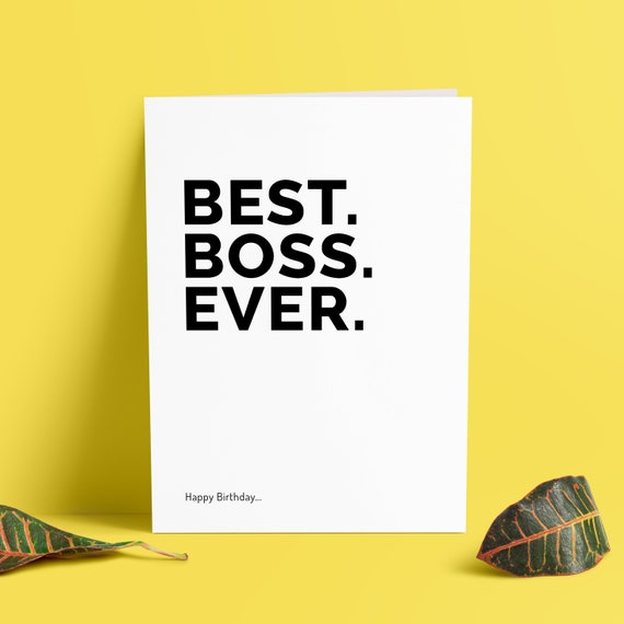 Funny Boss Birthday Cards Best Ever