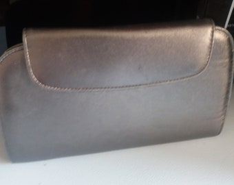 Vintage Bally Clutch/Evening Bag 1980's - metalic silver