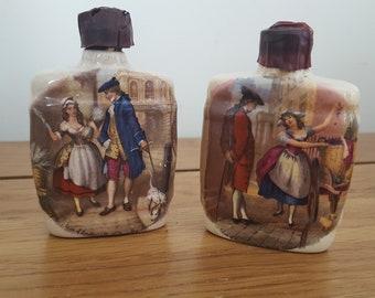 2 Vintage Miniature Kegs, Cherry Brandy Jugs, Ceramic Orlando Cherry Brandy Liqueur Bottles, collectable, souvenir barrels