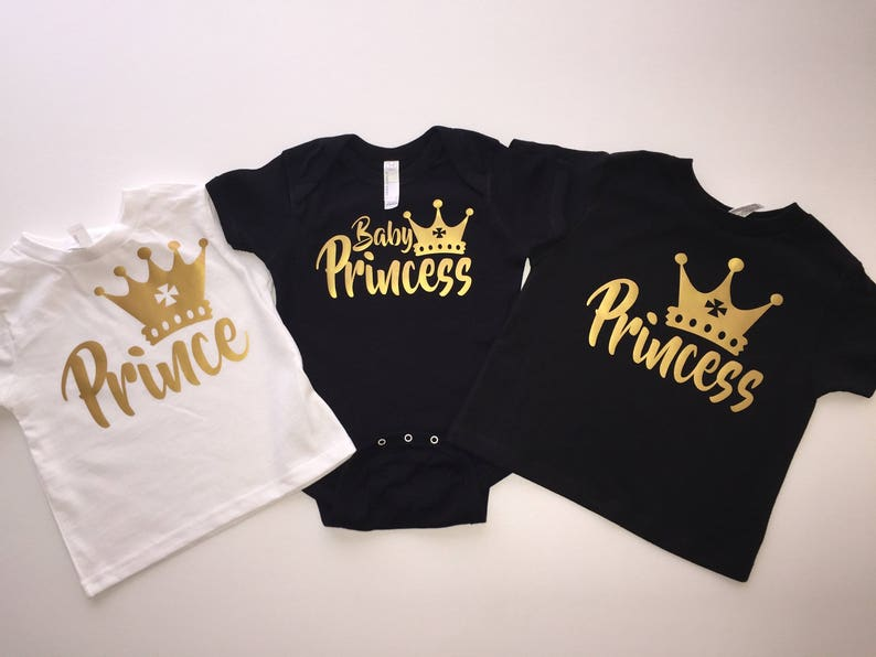 Baby Shower Shirts King And Queen Matching Prince