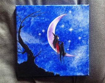 Star Gazing acrylic painting