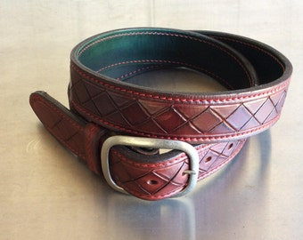 Leather belts - handcrafted, reversible, custom, hand made