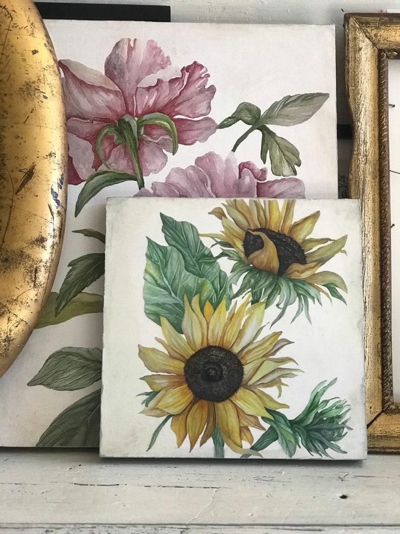 sunflower gift sunflower decor,modern farmhouse floral art floral art print sunflower shelf sitter sunflowers watercolor gardening
