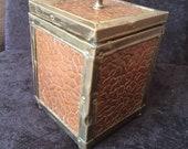 Rare Antique Copper and Brass Tea Caddy