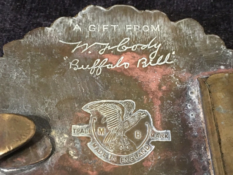 Vintage Cheif Bull Sitting of the Sioux Brass belt buckle