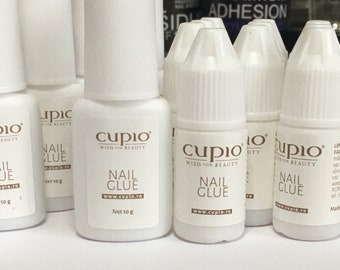 Cupio Nail Glue | 10g or 5g | Brush or Nozzle | Brush on glue | Extra Strong Nail Glue | 2 weeks power