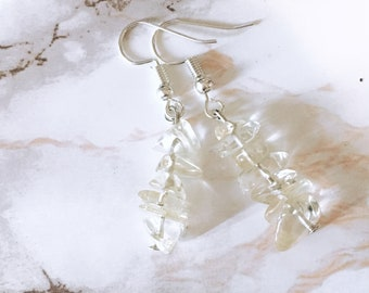 Honey Quartz Cluster Earrings