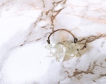 Healing Crystal Chip Ring