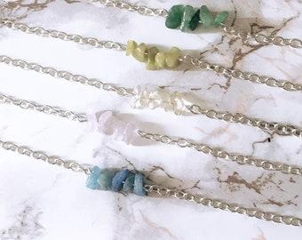 Healing Crystal Chip Bracelet
