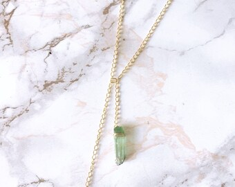 Double Crystal Point Necklace