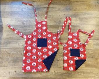 Daddy/Son Boston apron set