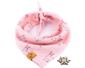 Llama Love Bandana - Valentine's Dog Bandana, Pink Dog Bandana, Stylish Bandana, Tie On Bandana, Llama Dog Bandana, Spring Dog Bandana