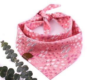 Provence Bandana - Spring Dog Bandana, Floral Dog Bandana, Tie On Bandana, Flower Dog Bandana, Stylish Dog Bandana, Pink Dog Bandana