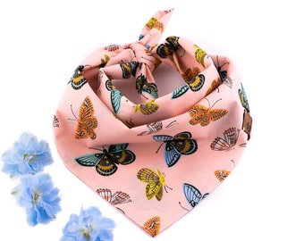 Mira Bandana - Summer Dog Bandana, Butterflies Dog Bandana, Stylish Bandana, Tie On Bandana, RiflePaperCo Bandana, Flower Dog Bandana