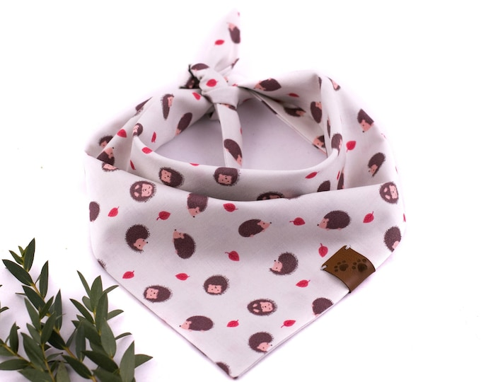 Transylvania Bandana - Spring Dog Bandana, Hedgehog Dog Bandana, Tie On Bandana, Grey Dog Bandana, Forest Dog Bandana, Cute Dog Bandana