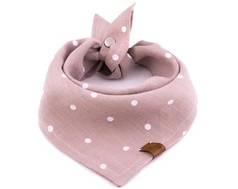 Sweetie Pie Bandana - Valentine's Dog Bandana, Nude Dog Bandana, Stylish Bandana, Tie On Bandana, Dots Dog Bandana, Snap On Bandana