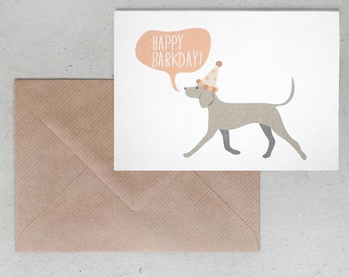 Alfie's Greetings Happy Barkday - Dog Greeting Card, Dachshund Greeting Card, Happy Barkday, Dog Birthday, Dog Greetings, Dog Cards