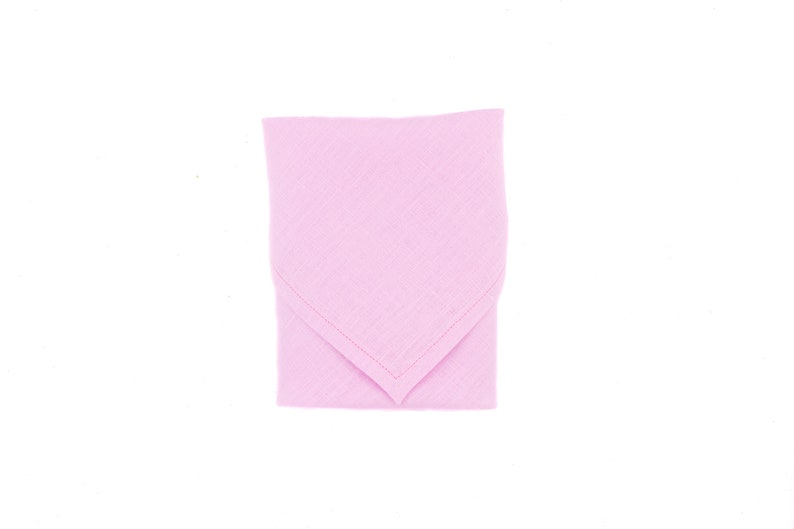 Stylish Bandana Serenity Bandana Pink Dog Bandana Summer Dog Bandana Tie On Bandana Dog gift Snap On Bandana Linen Dog Bandana