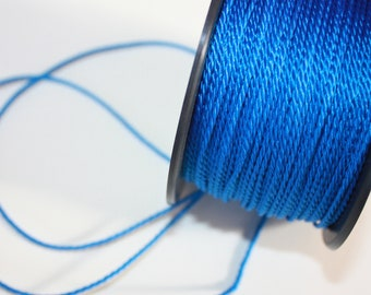 1.5 mm TWISTED BLUE Cord = 1 Spool = 55 Yards = 50 Meters of Elegant Polypropylene Rope Great for Macrame Sewing Crocheting Knitting