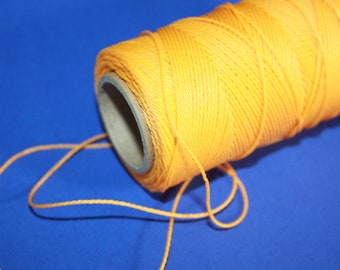 1 mm TWISTED YELLOW Cord = 1 Spool = 110 Yards = 100 Meters of Elegant Polypropylene Rope for Macrame Sewing Crocheting Knitting Yarn