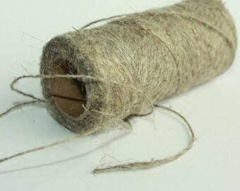 1 mm Linen Yarn - 1 Spool = 110 Yards = 100 Meters of Natural Linen Natural Color Rustic Weddings Wild Macrame Wedding Decor Beads Holder