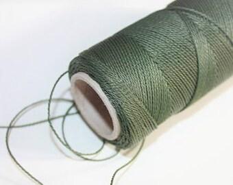 1 mm TWISTED KHAKI Cord = 1 Spool = 110 Yards = 100 Meters of Elegant Polypropylene Rope for Macrame Sewing Crocheting Knitting