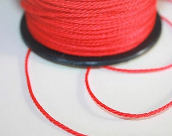 1.5 mm TWISTED RED Cord = 1 Spool = 55 Yards = 50 Meters of Elegant Polypropylene Rope for Macrame Sewing Crocheting Knitting