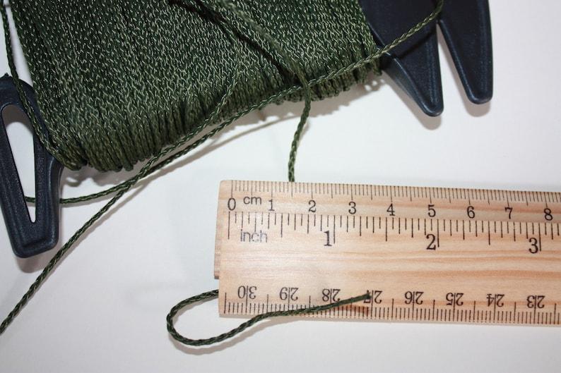 1.5 mm BRAIDED KHAKI Cord = 1 Spool = 110 Yards = 100 Meters of Elegant Polypropylene Rope for Macrame Knitting Sewing Crocheting Thread