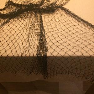 White SMALL piece Fish Net 1.37 x 4.60 Yard = 1.25 x 4.20 Meters Beach Decor Coastal Decor Beach Wedding Beach Parties Mermaid Fishing Net