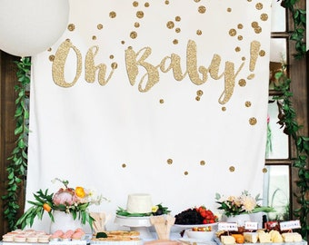 Girl Baby Shower Backdrop Etsy