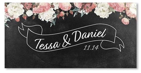 Custom Vinyl Banner Custom Wedding Banner Event Banner Modern Etsy