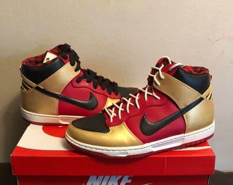 bbf83cdfe74c79 Custom handpainted Nike dunks hi top
