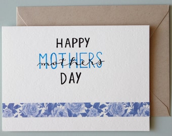 Blank Flat Mothers day Card