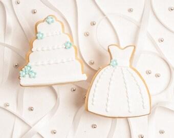 Six Leslie Dress and Cake Favors - Bridal Shower Favor