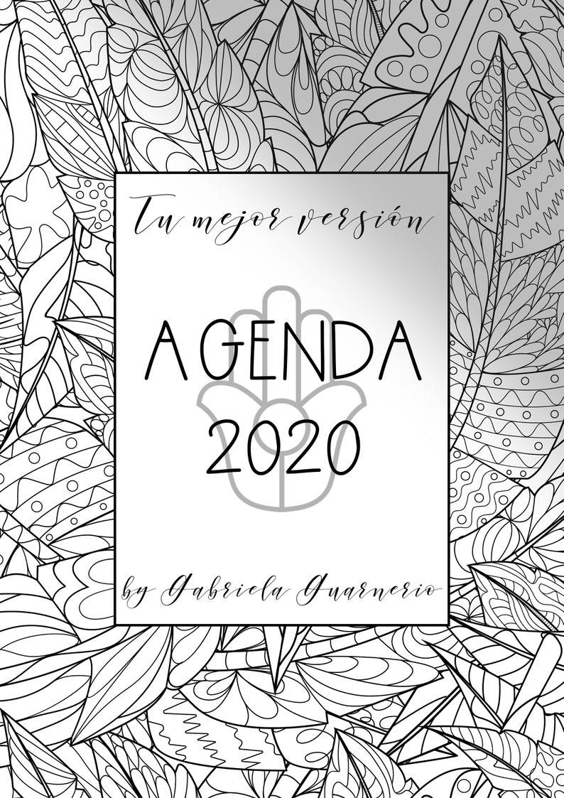Agenda 2019  2020 con Mandalas para colorear y consignas de image 0