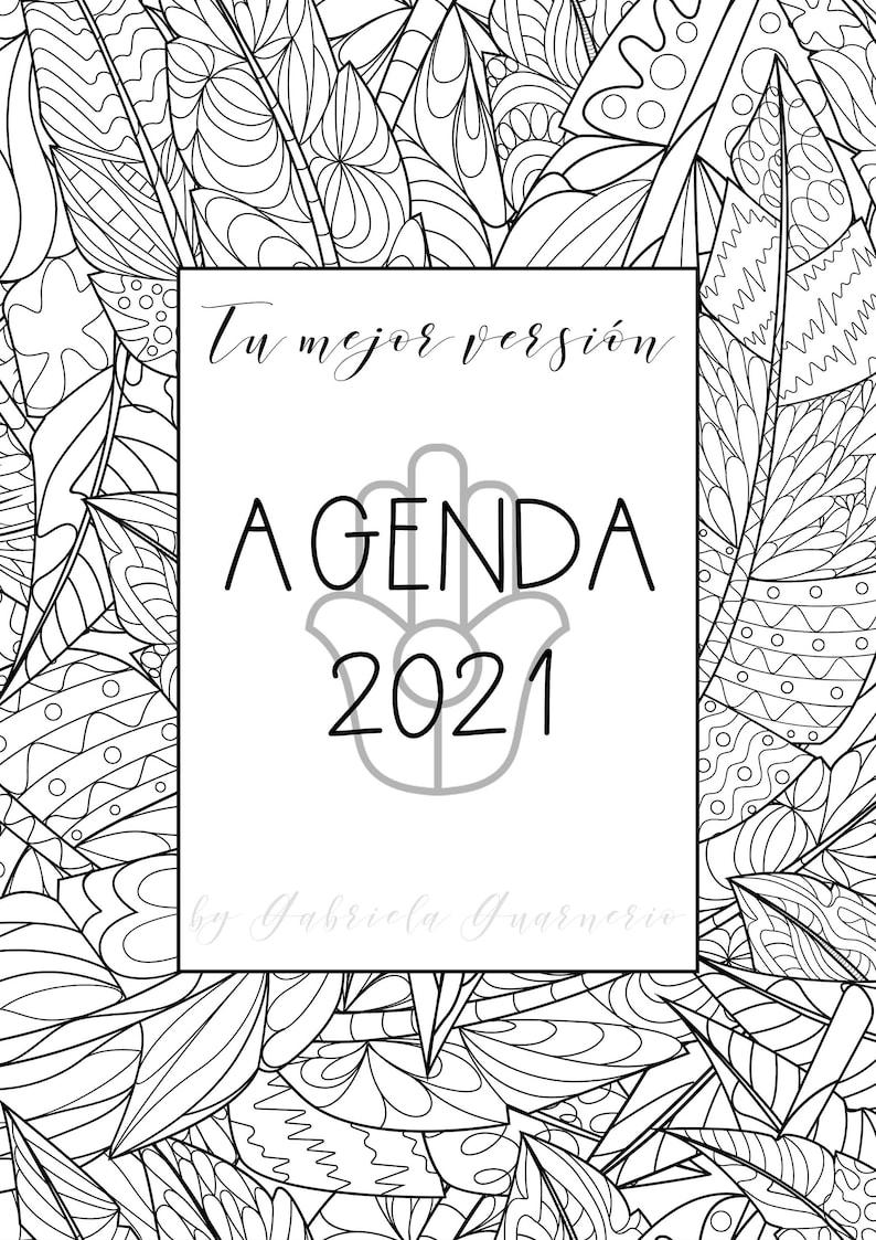 Agenda 2021 con Mandalas para colorear y journaling Bullet ...
