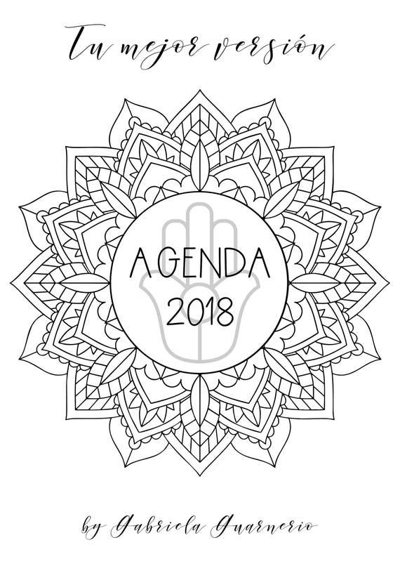 Agenda 2018 con Mandalas para colorear y consignas de | Etsy