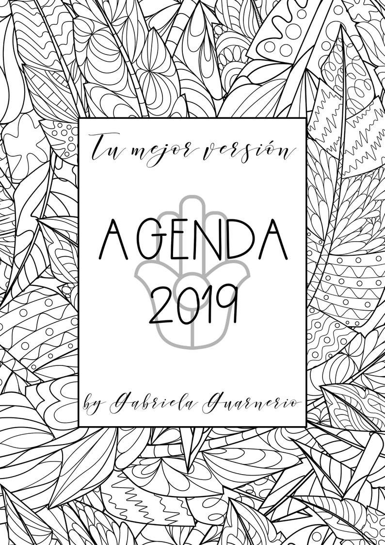Agenda 2019 Con Mandalas Para Colorear Y Consignas De Etsy