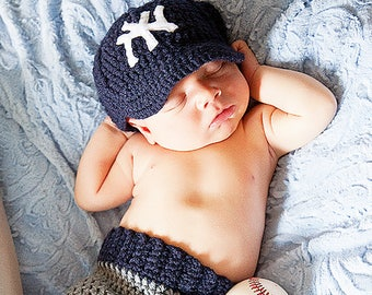 CROCHET PATTERN - Baby Baseball Cap - Pants - Billy Baseball Set - Ava Girl  Patterns 31bfe39e367f