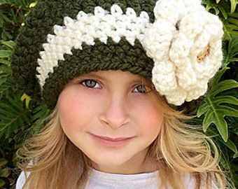 CROCHET PATTERN - Chunky Slouchy Hat - Girl s - Women s - Bria Hat - Ava  Girl Patterns 3d8bc03d3dab