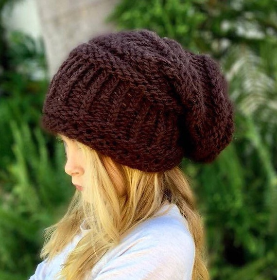 LOOM KNITTING PATTERN Slouchy hat Knifty Knitter Round  c1123a1fd7f