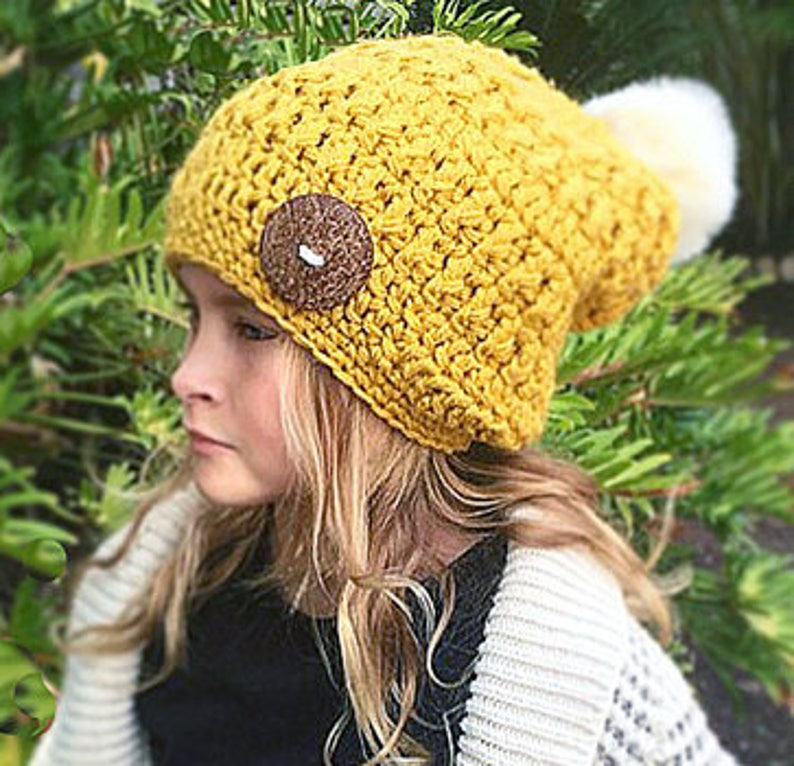 a03870071c1 CROCHET PATTERN Chunky Slouchy Hat Girl s Hat